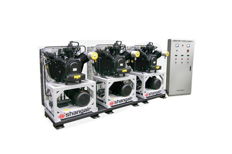 46WH立式三机风冷活塞增压式中高压空压机