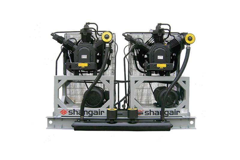 46WH立式双机风冷活塞增压式中高压空压机